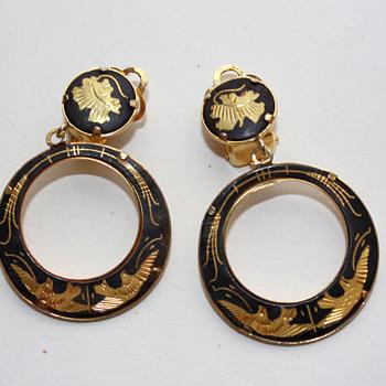 Damascene earrings - Costume Jewelry