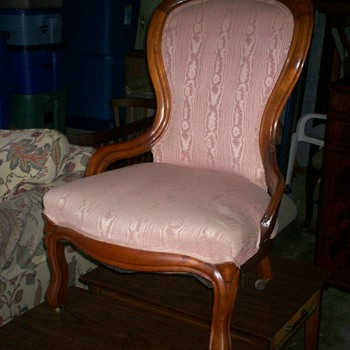 chair with satin fabric - Furniture