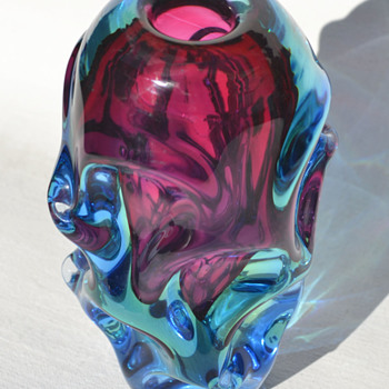 Skrdlovice sommerso bud vase - Art Glass