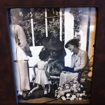 Photo found hidden behind framed print - Photographs