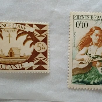 Stamps via France via Libre & Polynesia