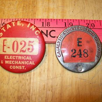 Pin back I.D. badges - Medals Pins and Badges