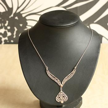 Silver filigree demi parure - Fine Jewelry