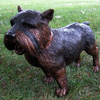 Life-Size Bronze Terrier Sculpture - Animals