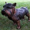 Life-Size Bronze Terrier Sculpture
