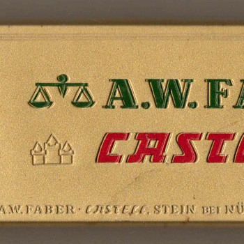 Vintage A.W. Faber Castell Pencil Tin - Office