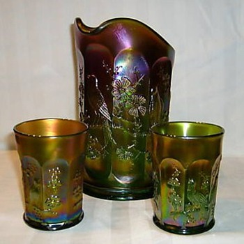 Singing Birds Water Set - Glassware