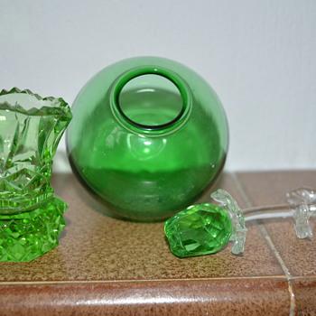 Green glass items - Art Glass