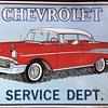 Chevrolet advertisement wall tin