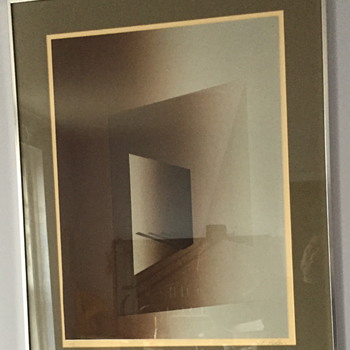 Abstract art in a frame. - Posters and Prints
