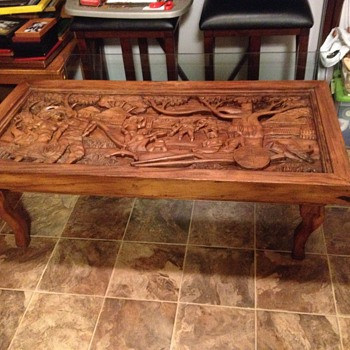 I would love to know anything I can about this coffee table. I believe it is an antique an made from teek wood.