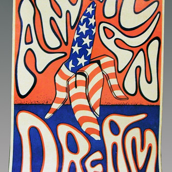 """The New American Dream"" poster by Moon Breetwor, 1967 - Posters and Prints"