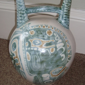 Very unusual Peruvian? style huge double spouted dringing vessel - Pottery