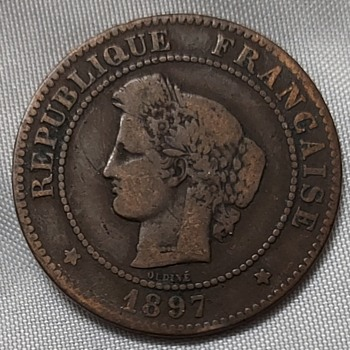 1897 French 5 centimes - World Coins