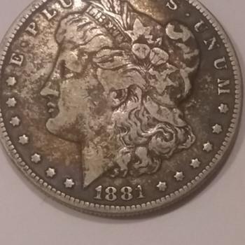 Morgan Silver Dollar 1881 - US Coins