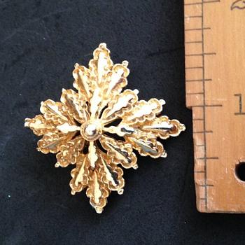 Goldtone Brooch - Costume Jewelry