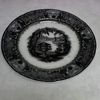 PODMORE WALKER MULBERRY PLATE  1800/1849 - China and Dinnerware
