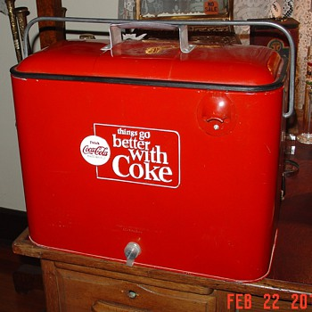 1960's...Things Go Better With Coke...Embossed Coca-Cola Cooler - Coca-Cola