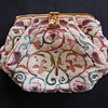 Vintage Hand Made In France Beaded And Embroidered Purse
