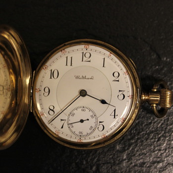 Rare 1903 Waltham Model #1899 Riverside Maximus 23J Solid Gold Pocketwatch