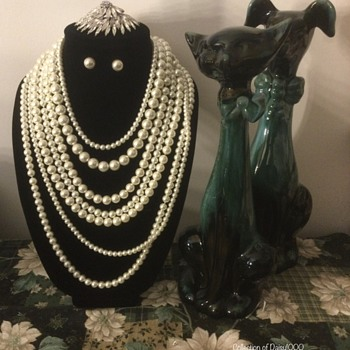 """Faux Pearls & """"Silvered"""" Crystal ... for Mothers' Day — A Shoutout to Barbara Bush - Costume Jewelry"""