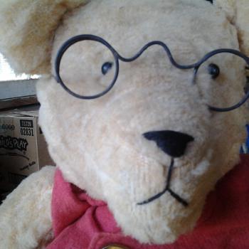 Teddy Roosevelt Teddy Bear with Button Eyes - Dolls