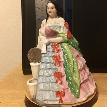 Half-clothed woman ceramic figurine - China and Dinnerware