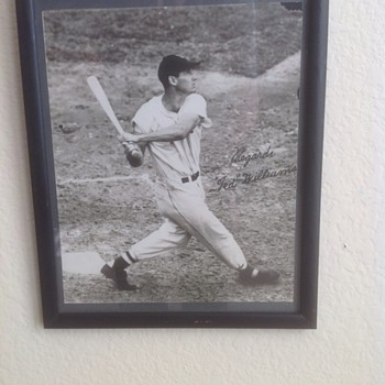 Ted Williams early photo autographed