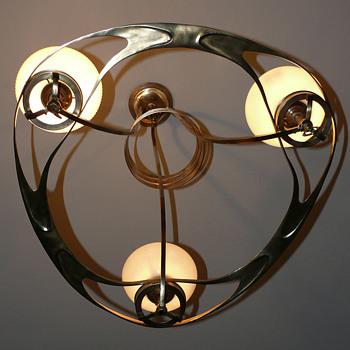 Art nouveau jugendstil gas chandelier