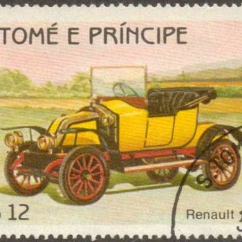 "St. Thomas & Prince Islds. ""Antique Cars"" Postage Stamps - Stamps"