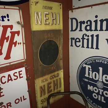 1920's Nehi gas today price sign