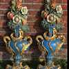 "Antique Pair of Historical Ship ""Berlin"" Vase Carvings Circa 1908"