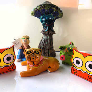 Vintage 1960's - 1970's Psychedelkitsch. - Figurines