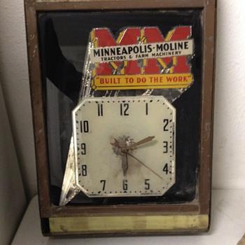 1939 Minneapolis moline advertising clock - Clocks