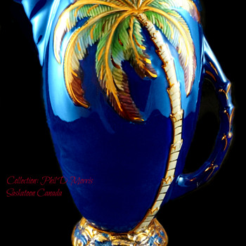 Beswick Largest Jug, Over 11 1/2 Inch Jug, Cobalt Blue, Painted & Gilt. High Gloss - Pottery