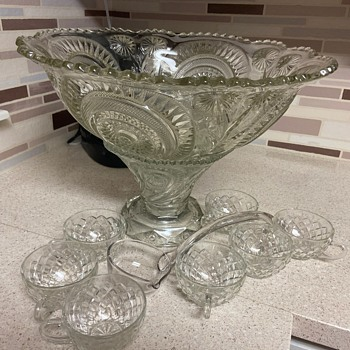 Glass Punch bowl set - Glassware