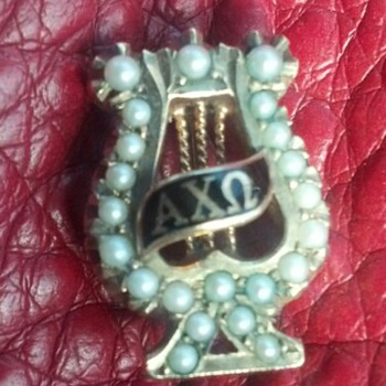 Alpha Chi Omega Sorority Badge  - Medals Pins and Badges