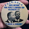 "Rare 1968 Poor Peoples Campaign 3.5"" Civil Rights Pinback w Martin Luther King"