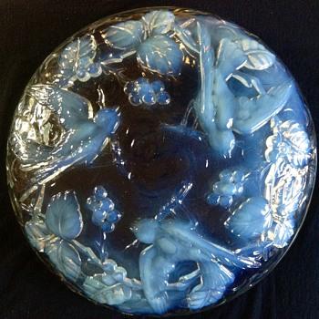 Large French Art Deco Opalescent Glass Verlux Art Glass Bowl - Art Glass