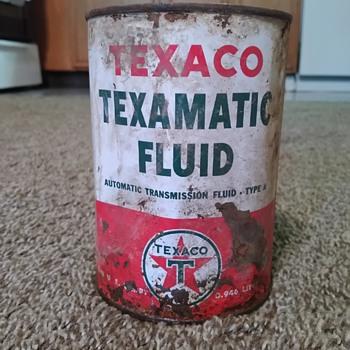 The Texas Company Texaco transmission fluid can - Petroliana