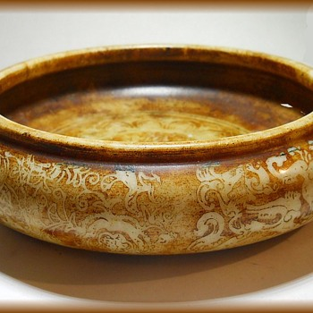IMPERIAL QING DYNASTY ( 1735 - 1795 ) - Brush Washer Bowl - Brown Jade ?? - Asian