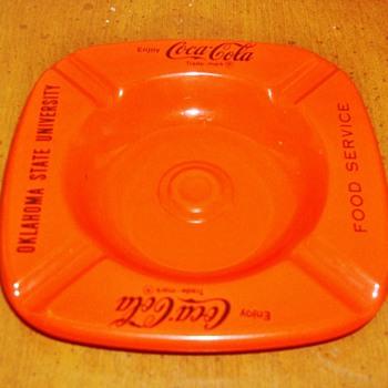 Coca Cola / Oklahoma State University Ash Tray - Coca-Cola