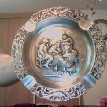 silver ashtray - Silver