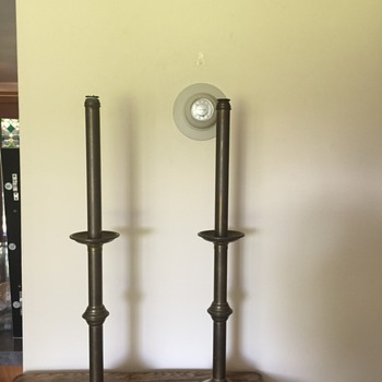 Brass Spring Loaded Candlesticks - Lamps