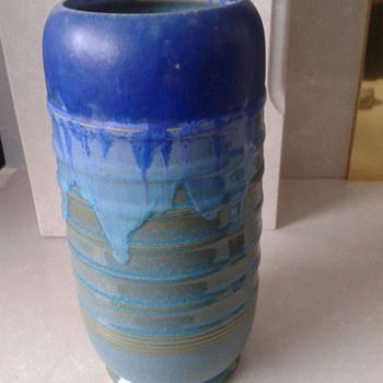 Blue/Torquoise Drip Glazed Vase ? - Pottery
