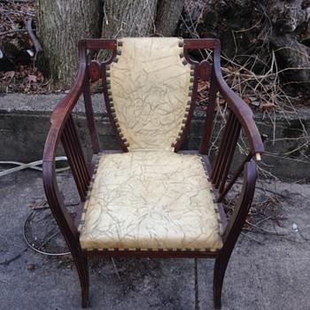 Mahogany inlade desk chair - Furniture