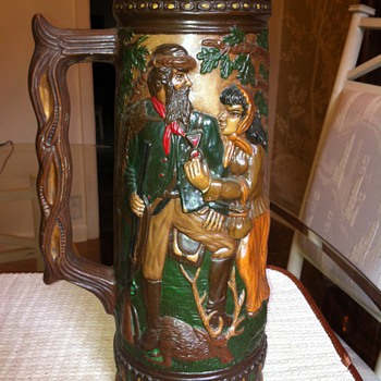 Des Sculp-7 Farkas Ky. Mold I think it is a beer stein??? - Breweriana