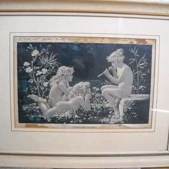 "1898 Print ""Moonlight Melody"" - Victorian Era"