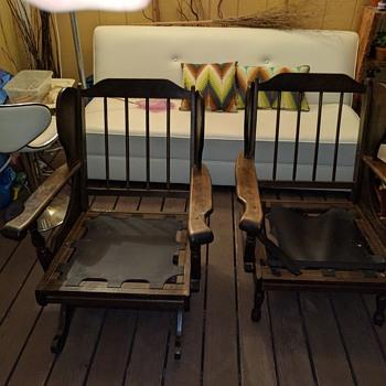 Platform Rocker and Chair