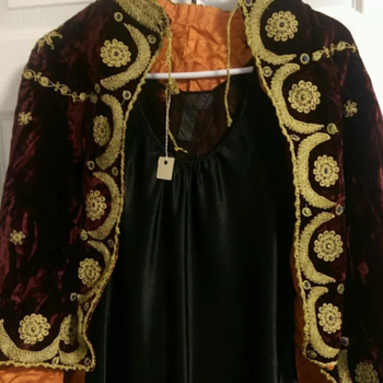 Palestinian wedding/opera cape circa 1900-1920
